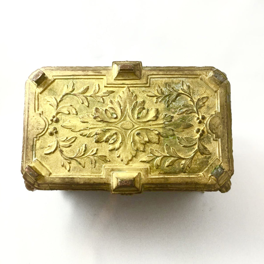 Antique French Gilded Copper Trinket Box