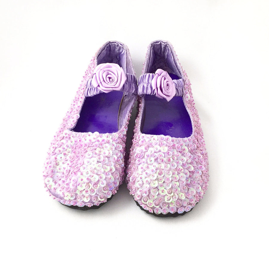 Purple Sparkly Sequin Shoes, Forever Passion, Putti Fine Furnishings