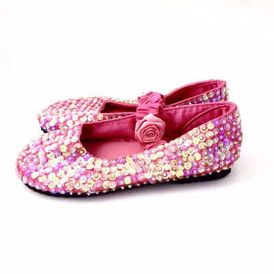 Hot Pink Sparkly Sequin Shoes, FP-Forever Passion, Putti Fine Furnishings