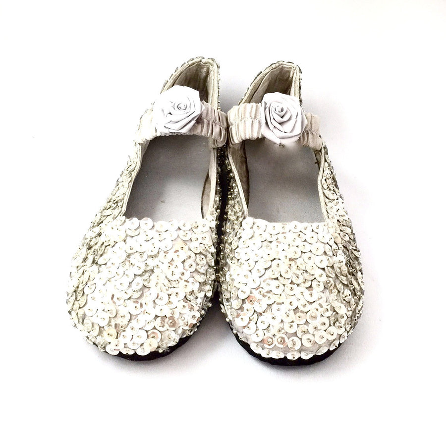 Silver Sparkly Sequin Shoes, Forever Passion, Putti Fine Furnishings