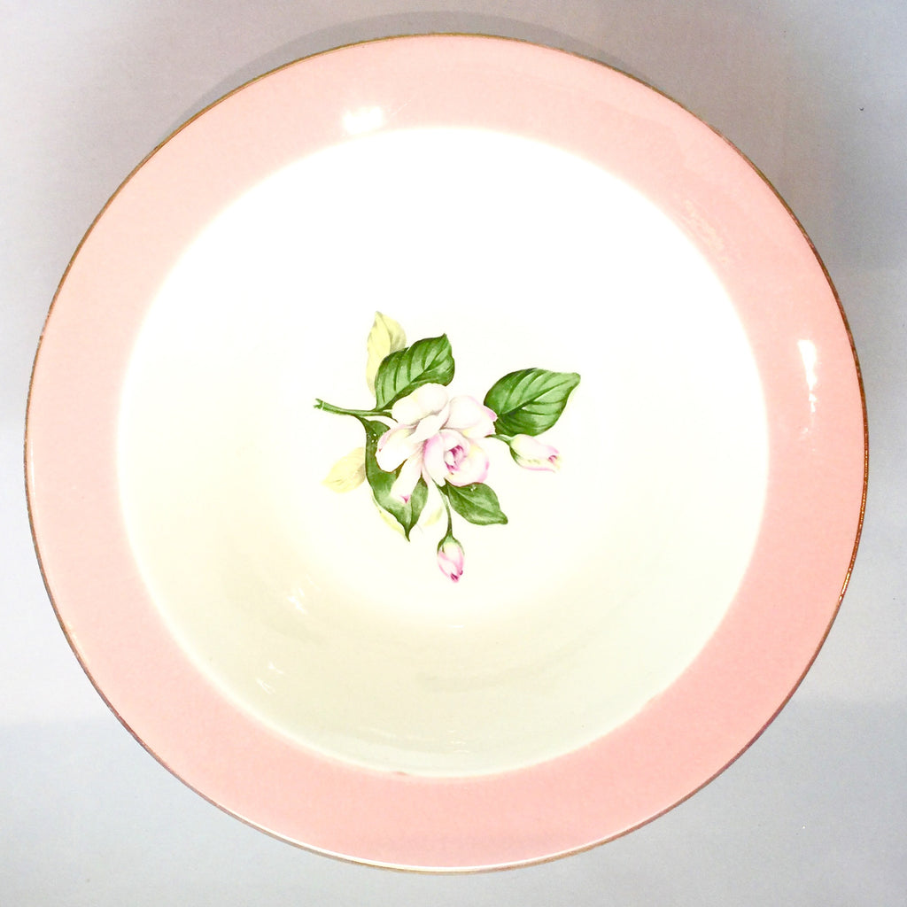 Vintage Pink Rose Serving Bowl -  Antiques - Antique English - Putti Fine Furnishings Toronto Canada - 1