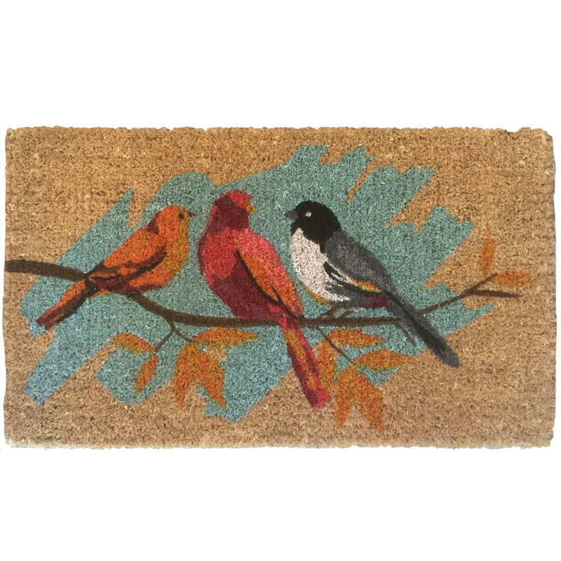 Three Birds on Branch Doormat