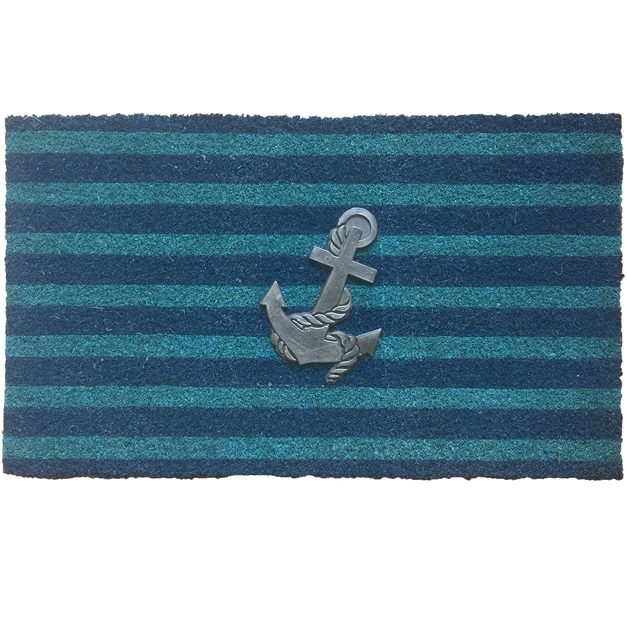 Blue Stripe Anchor Doormat
