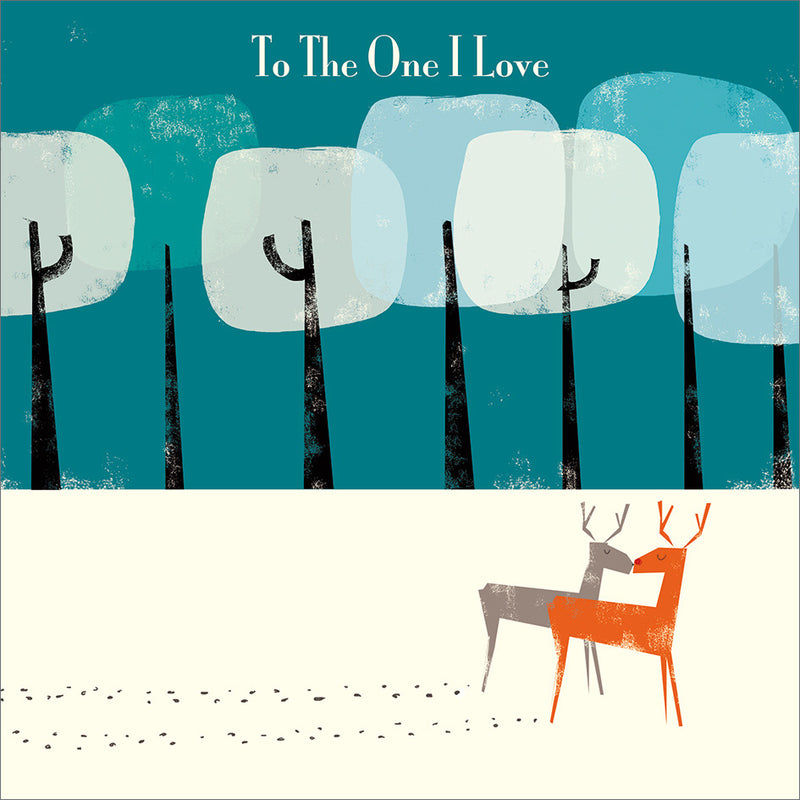 """To the one I Love"" Reindeer Christmas Greeting Card"