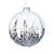 Iced Silver Glass Ball