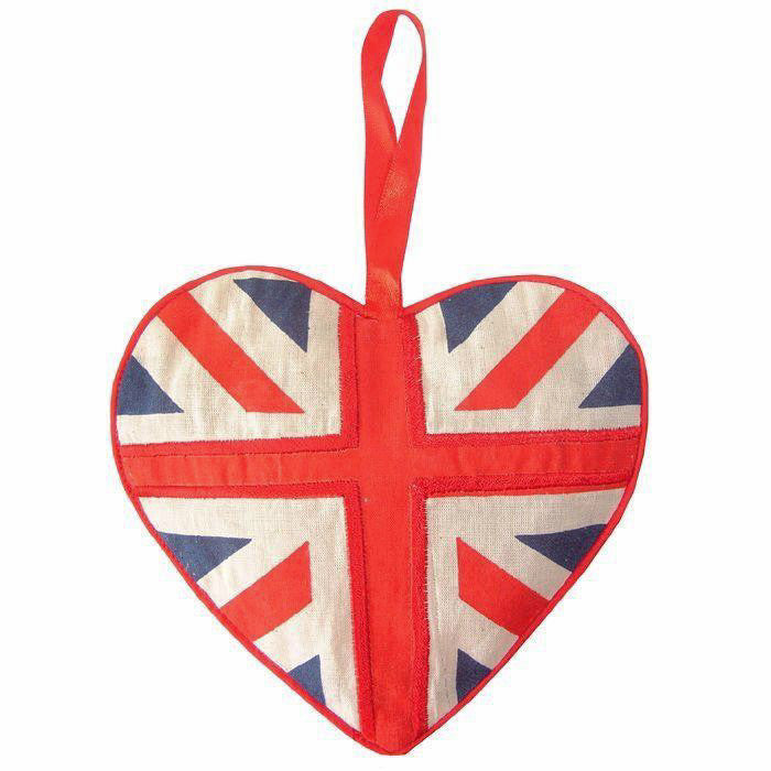 Union Jack Lavender Heart Sachet -  Sachet - Powell Craft Uk - Putti Fine Furnishings Toronto Canada - 1