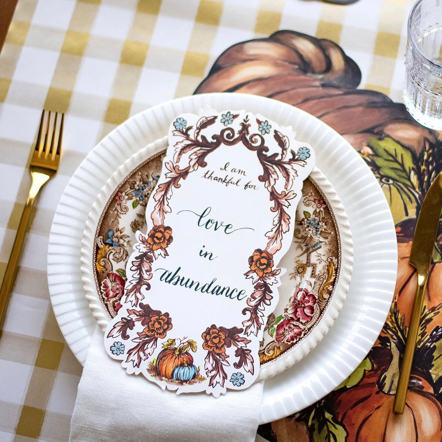 "Hester & Cook ""I Am Thankful For"" Table Accent"