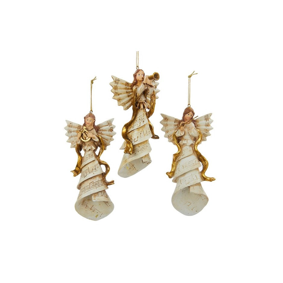 Musical Notes Angels  | Putti Christmas Decorations