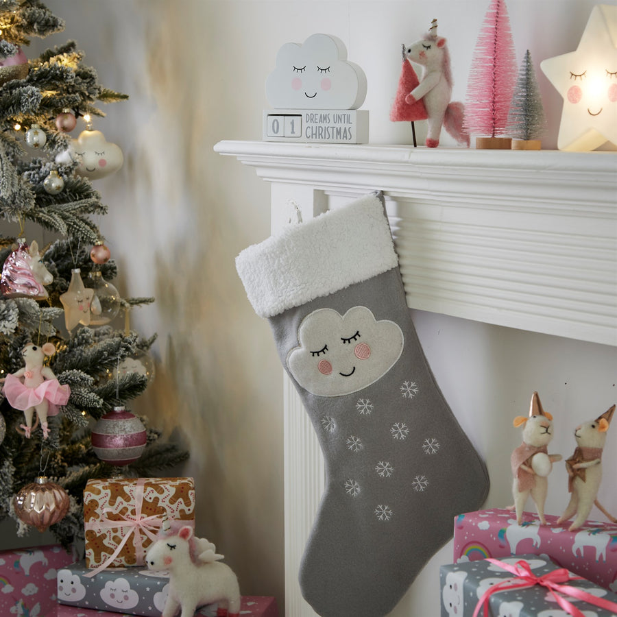 Sweet Dreams Cloud Christmas Stocking