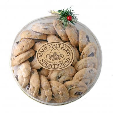 "Mary Macleod's Chocolate Crunch Shortbread Cookies - 7"" Round Pine Sprig"