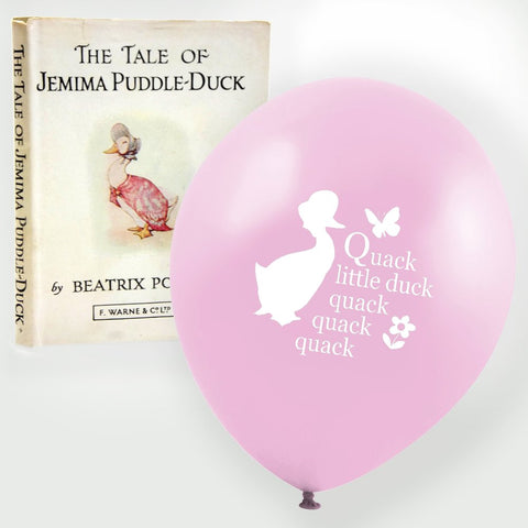 "Jemima Puddle Duck ""Quack little duck...quack quack quack"" Balloon - Pink-Party Supplies-VA-Vintage AngelVA-Vintage Angel-Balloon-Putti Fine Furnishings"