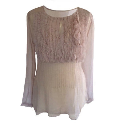 "Summer of Love ""Joan"" Mauve Chiffon Top, SOL-Summer of Love, Putti Fine Furnishings"