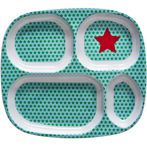 Rice Denmark - 4 Section Kids Plate - Star