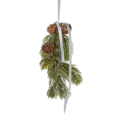Cone and Pine Hanging Decoration -  Christmas Decorations - Coach House - Putti Fine Furnishings Toronto Canada