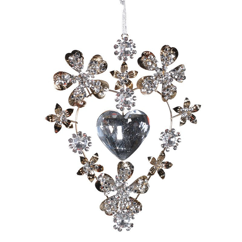 Jewelled Heart Ornament