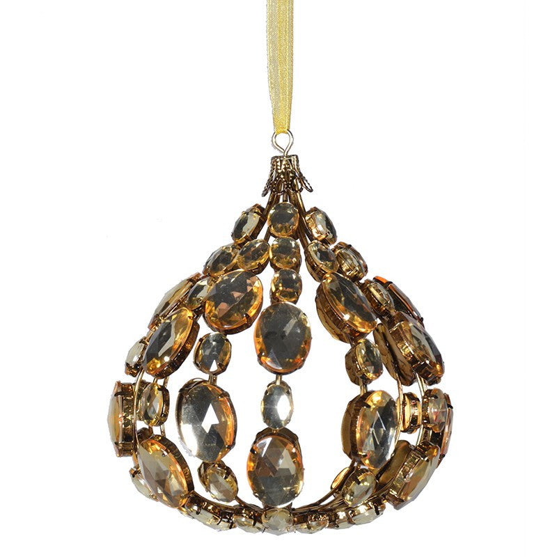 Gold Onion Shape Jewelled Decoration, CH-Coach House, Putti Fine Furnishings