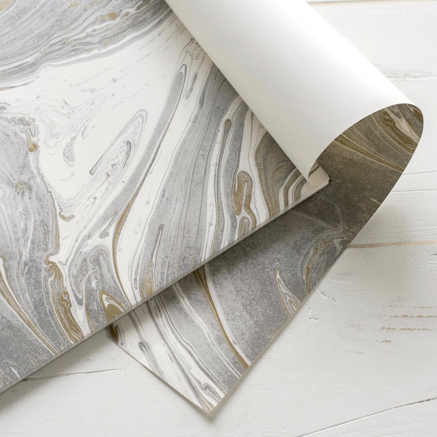 Gray & Gold Marbled Paper Placemats Paper Placemats