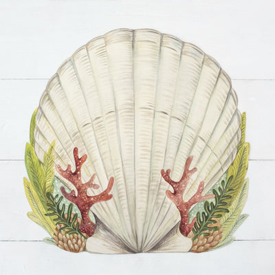Hester & Cook Die-Cut Shell Placemat, HC-Hester & Cook, Putti Fine Furnishings