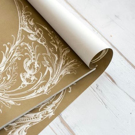 Gold Italian Scroll Paper Placemats