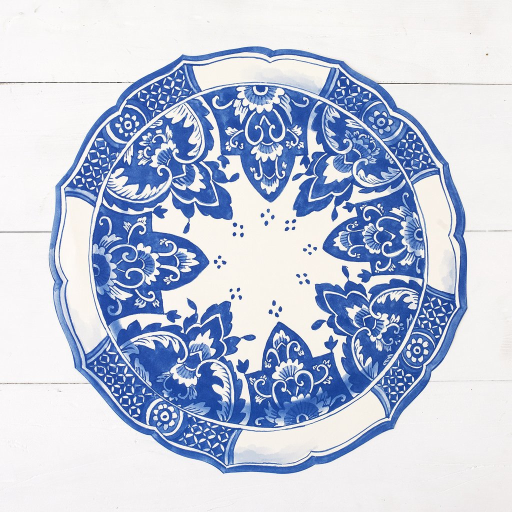 Hester & Cook Die Cut China Blue Placemat | Putti Celebrations & Partyware