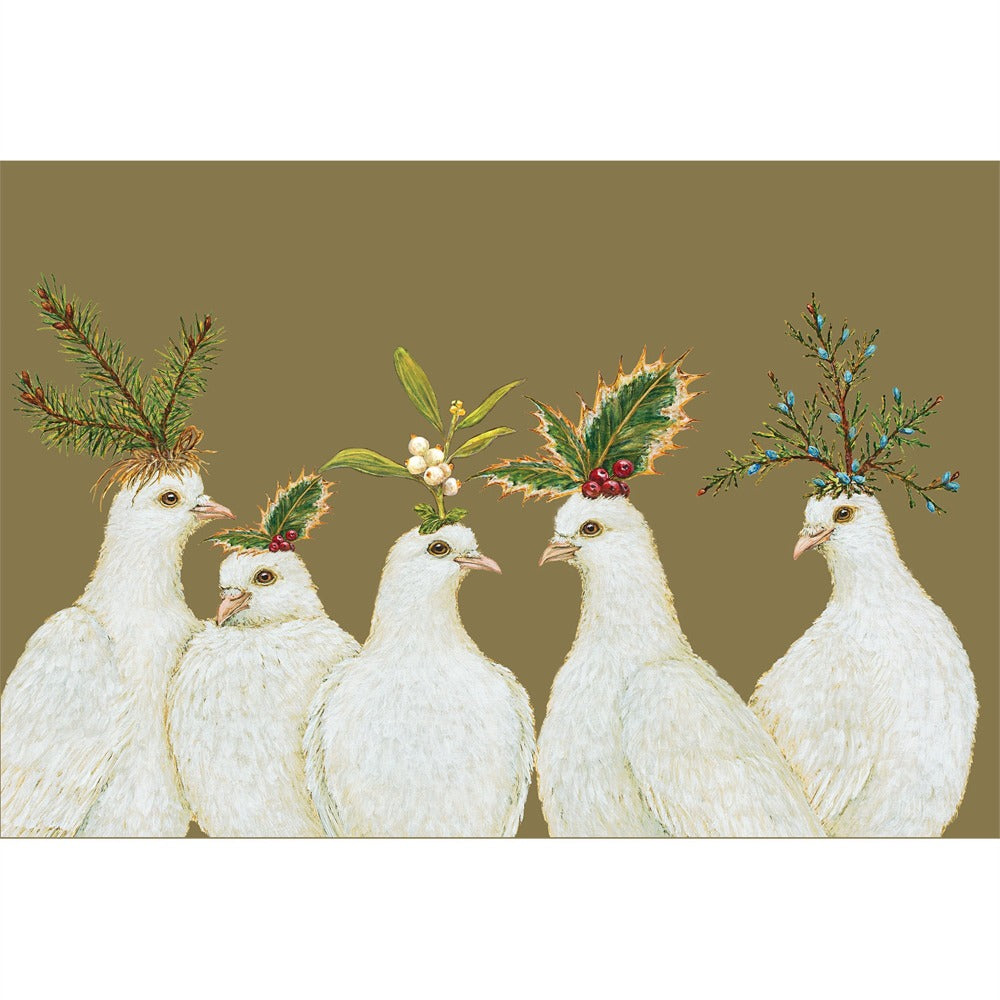 Hester & Cook Peaceful Doves Paper Placemats