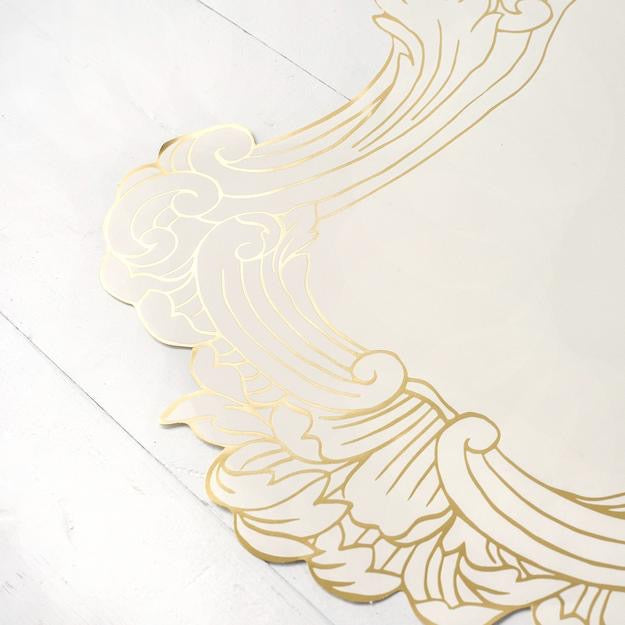 Hester & Cook Gilded Frame Die-Cut Paper Placemat