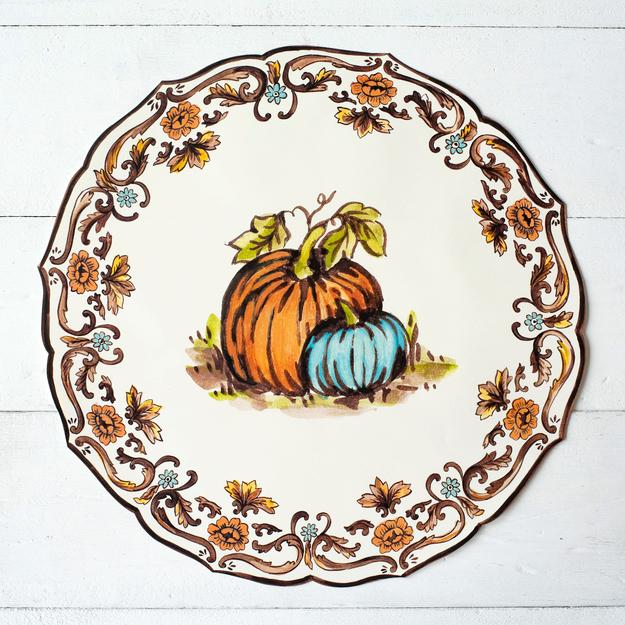 Hester & Cook Die-cut Thanksgiving China Placemat