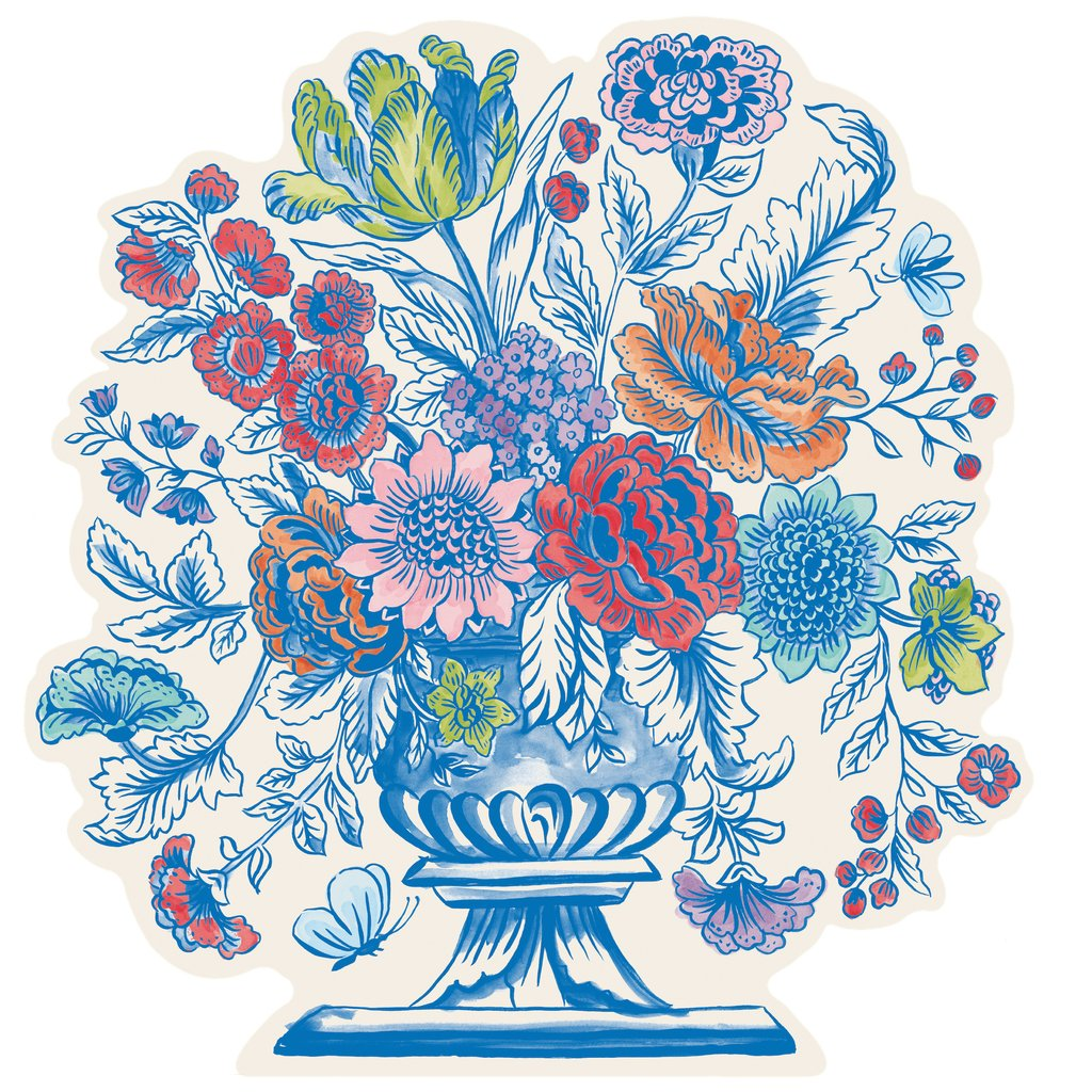 Hester & Cook Die-Cut Jardiniere Placemat | Putti Celebrations & Partyware