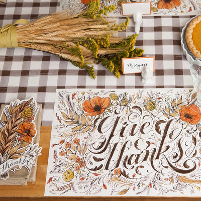 "Hester & Cook ""Give Thanks"" Paper Placemats"