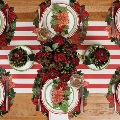 Hester & Cook Poinsettia Die Cut Paper Placemats | Putti Christmas Canada