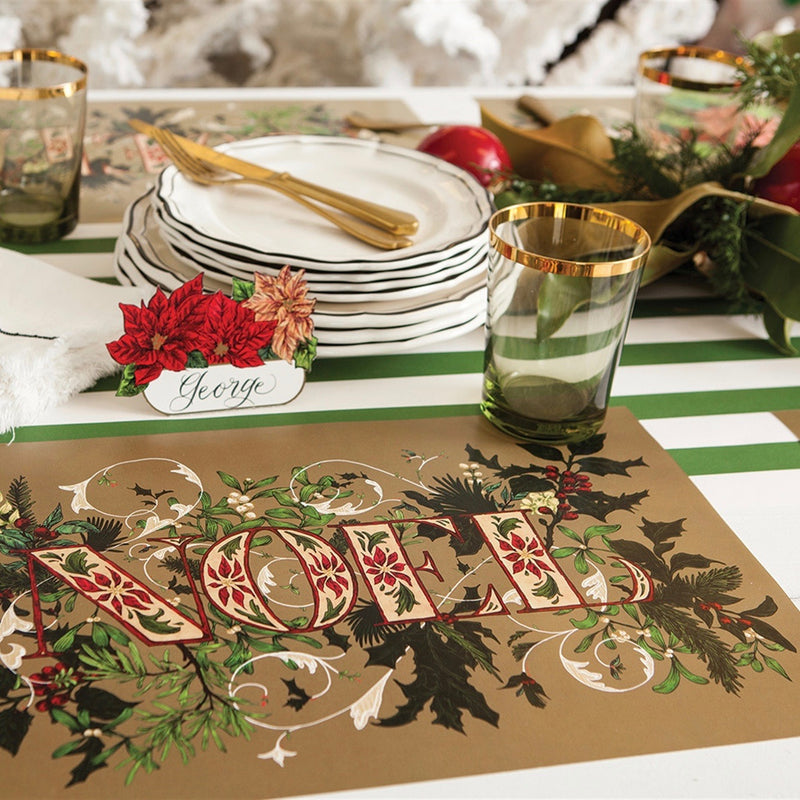 Hester & Cook Noel Paper Placemats | Putti Christmas Canada