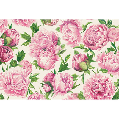 Hester & Cook Peonies in Bloom Paper Placemats | Putti Celebrations