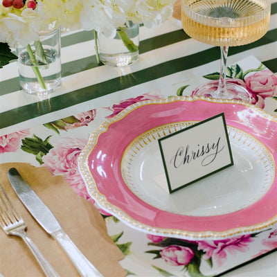 Hester & Cook Peonies in Bloom Paper Placemats