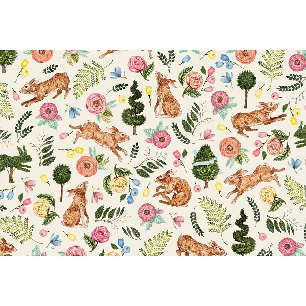 Hester & Cook Bunny Garden Paper Placemats
