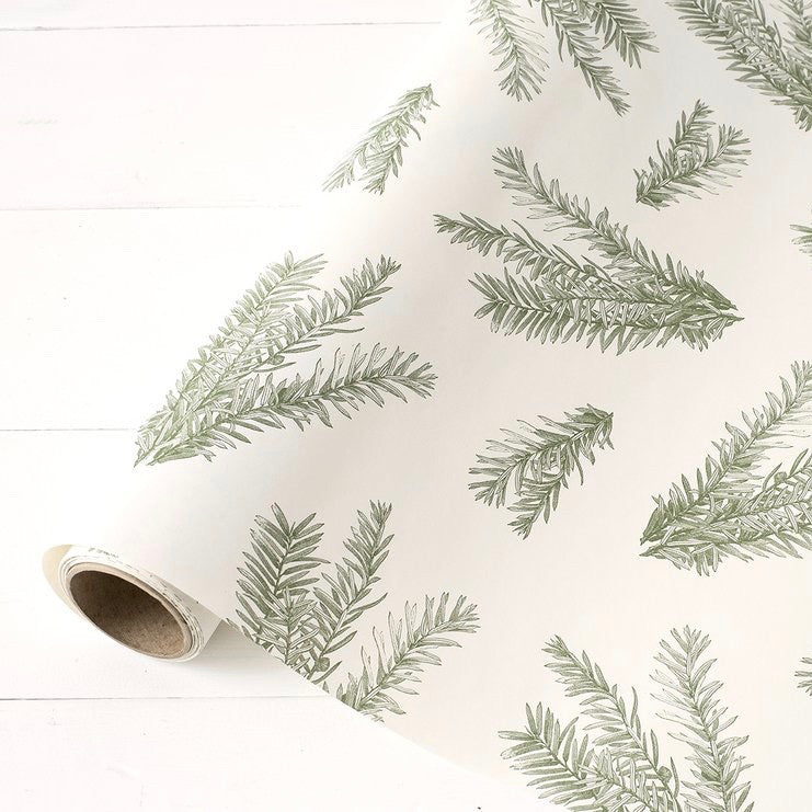 Hester & Cook Evergreen Sprigs Paper Table Runner - Putti Partyware