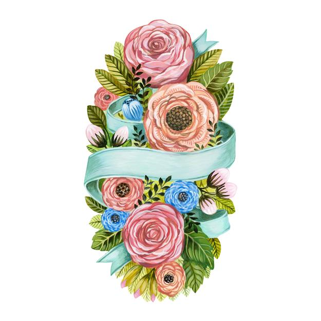 Hester & Cook Die-Cut Spring Floral Table Accent | Putti Fine Furnishings