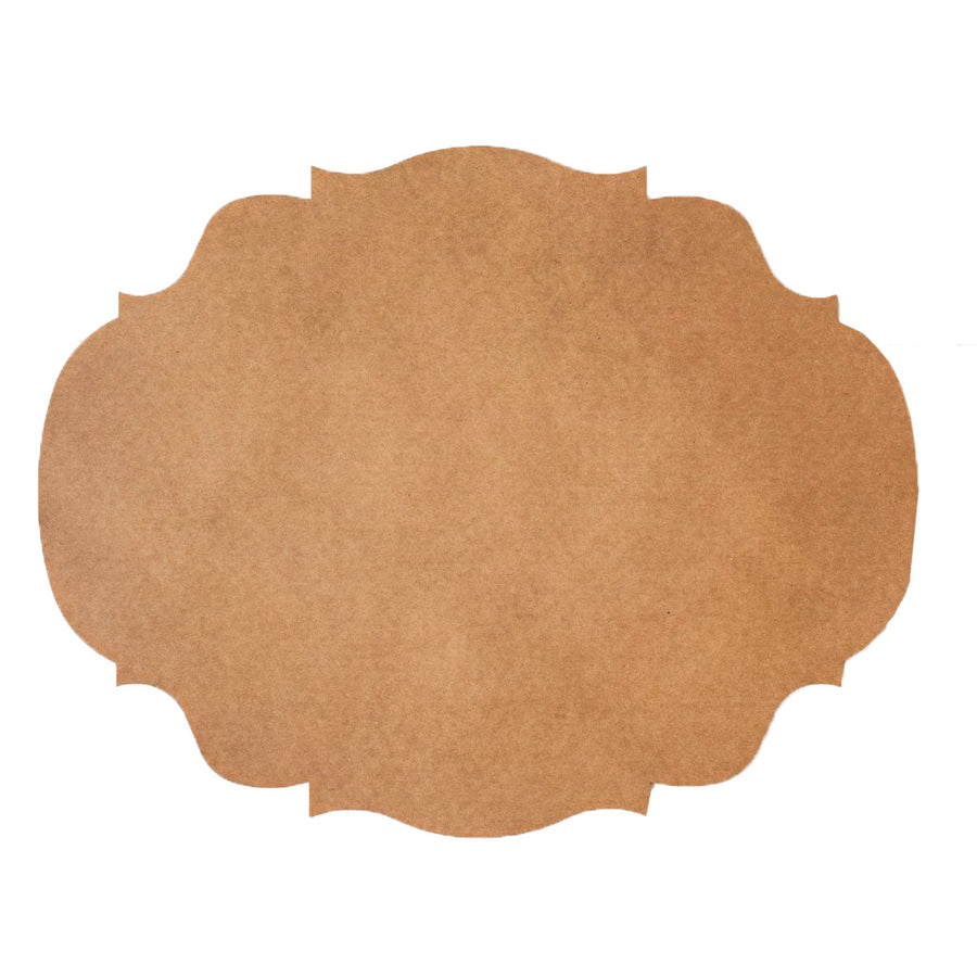 Hester & Cook Die Cut Kraft French Frame Placemats