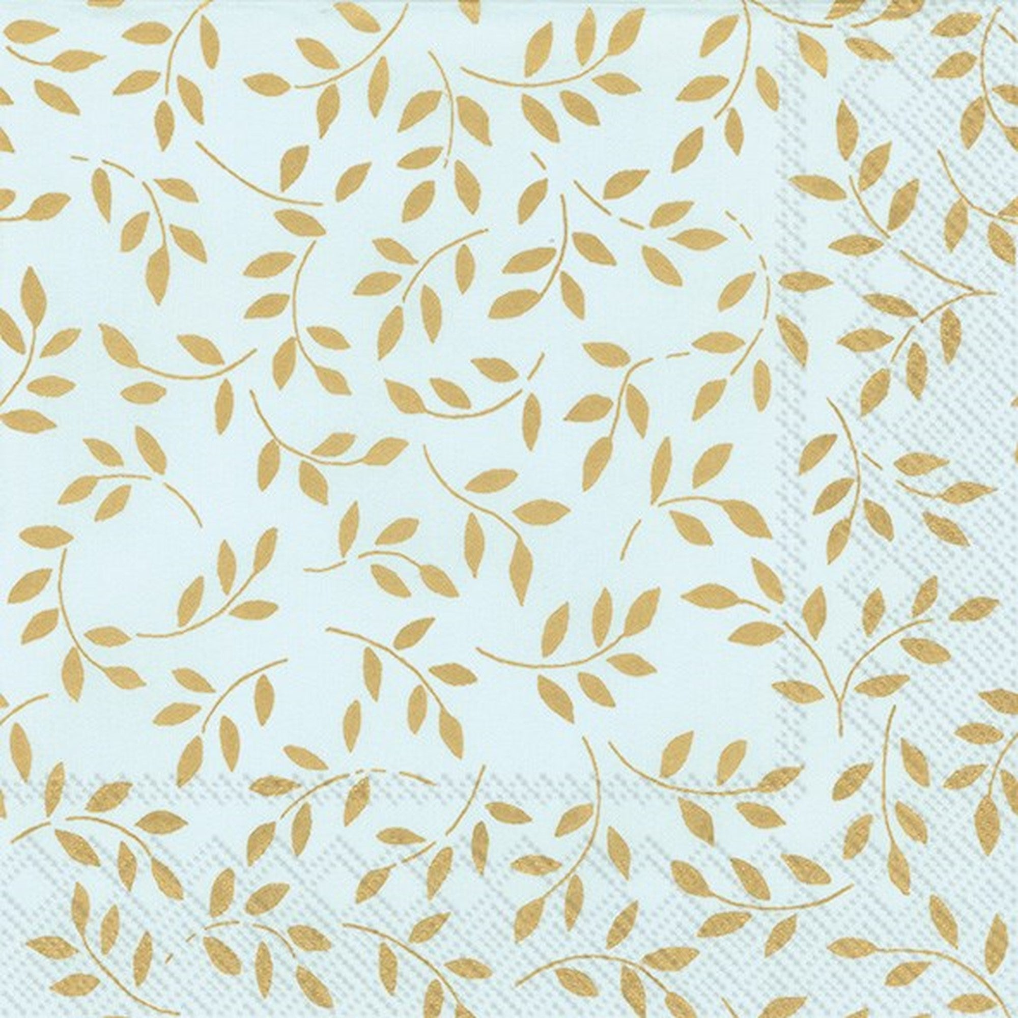 "Blue & Gold ""Folia"" Paper Napkin - Lunch"
