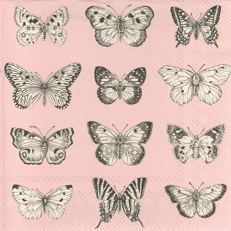 IHR Butterflies Paper Lunch Napkin | Putti Party Supplies