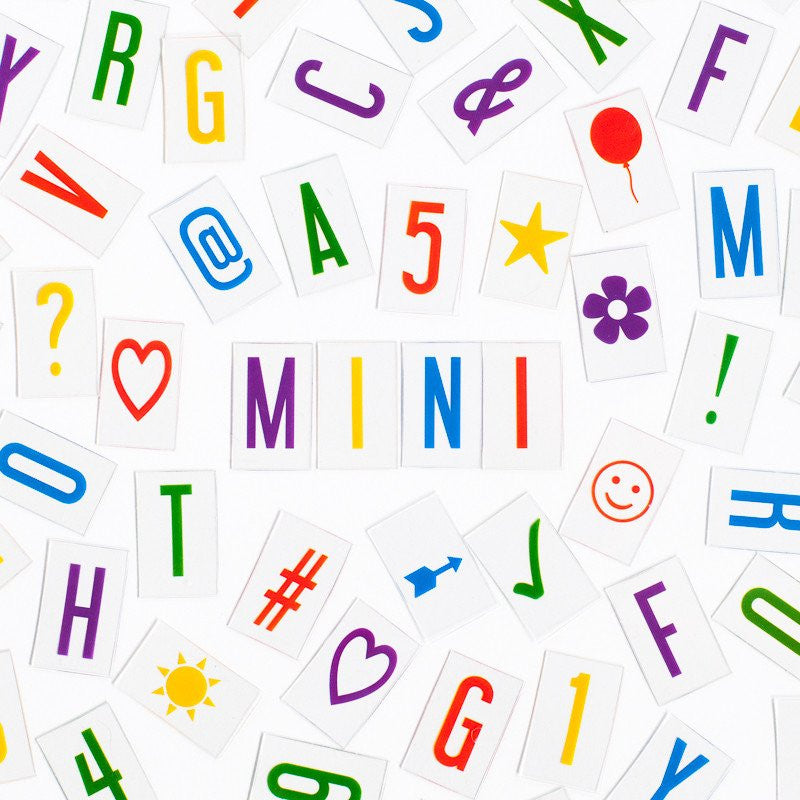 Vibrant Extra Letter & Symbol Pack - Mini-Accessories-One11 Imports-Putti Fine Furnishings