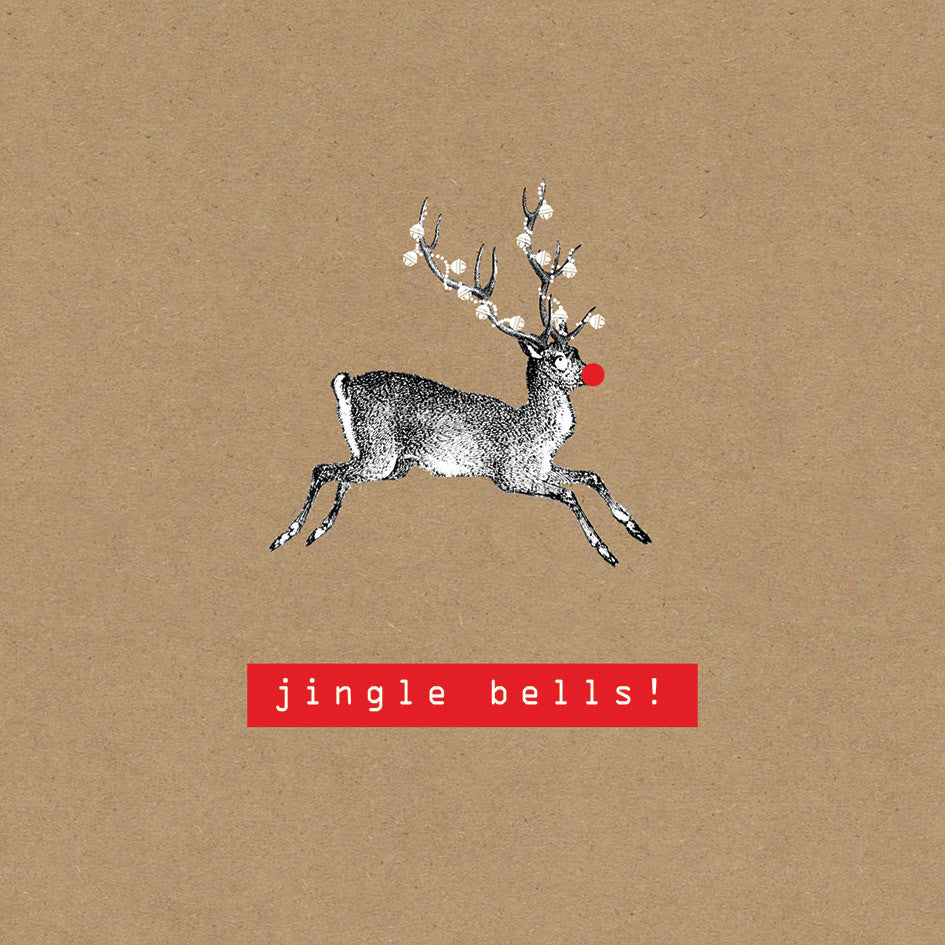 """Jingle Bells"" Rudolph Greeting Card, ID-Incognito Distribution, Putti Fine Furnishings"