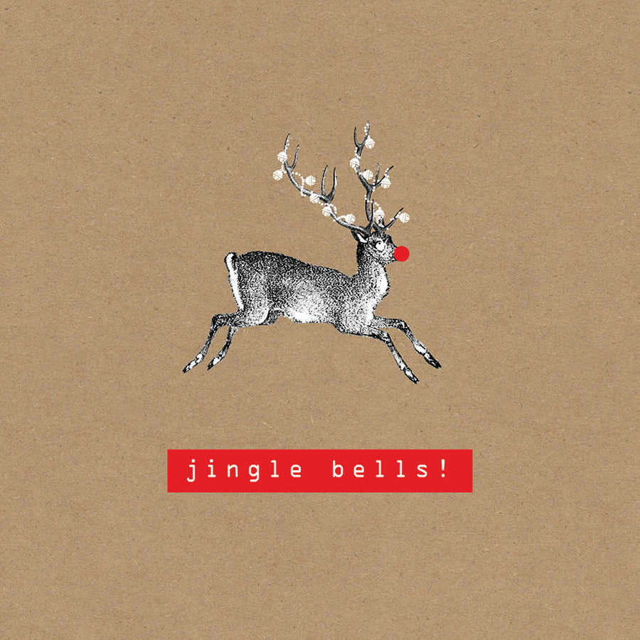 """Jingle Bells"" Rudolph Boxed Greeting Card"