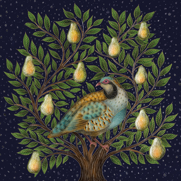 Partridge in a Pear Tree Boxed Greeting Card