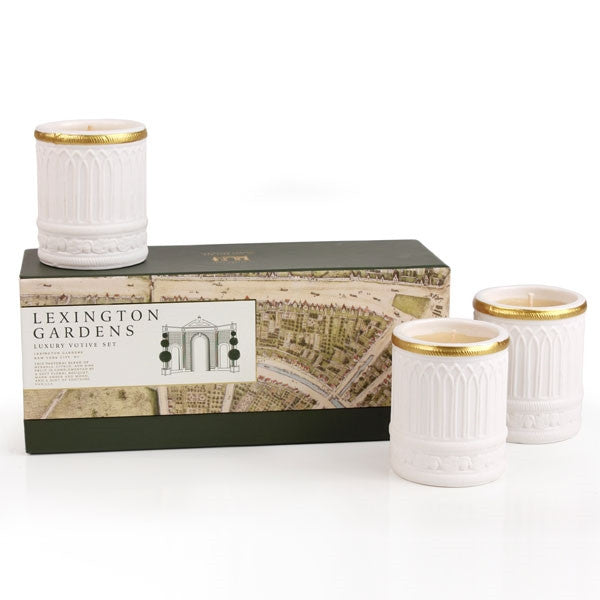 Seda France Lexington Gardens Luxury Ceramic Votive Set -  Home Fragrance - Seda France - Putti Fine Furnishings Toronto Canada
