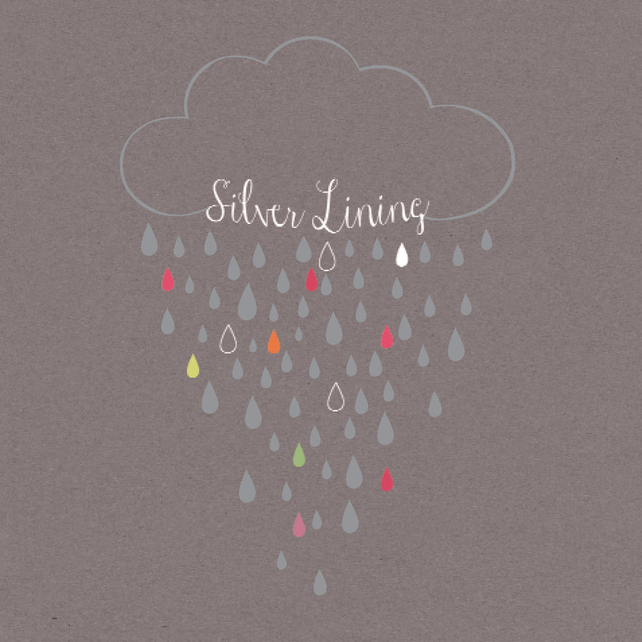 """Silver Lining"" Greeting Card"