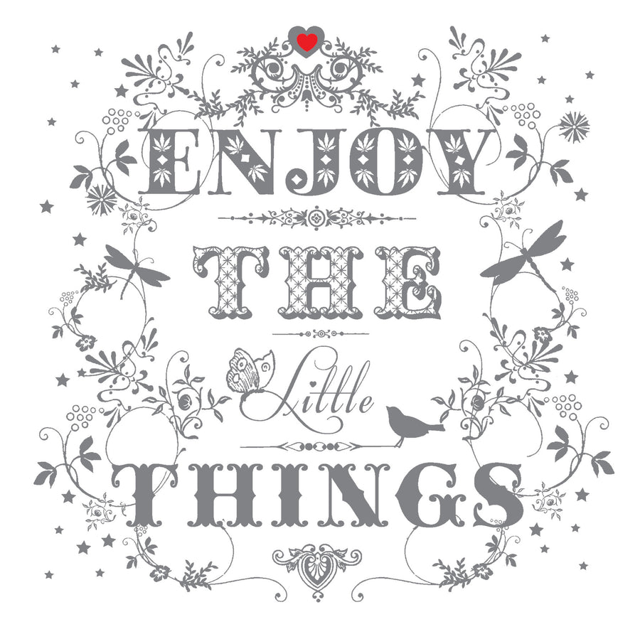 """Enjoy the Little Things"" Greeting Card"