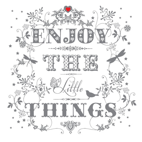 """Enjoy the Little Things"" Greeting Card-Stationary-ID-Incognito Distribution-Putti Fine Furnishings"