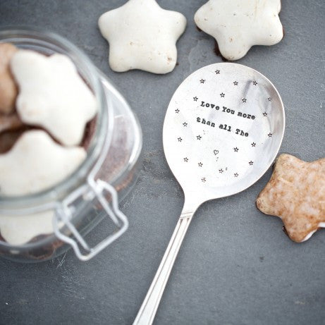 """I love you more than all the stars"" Vintage Serving Spoon"