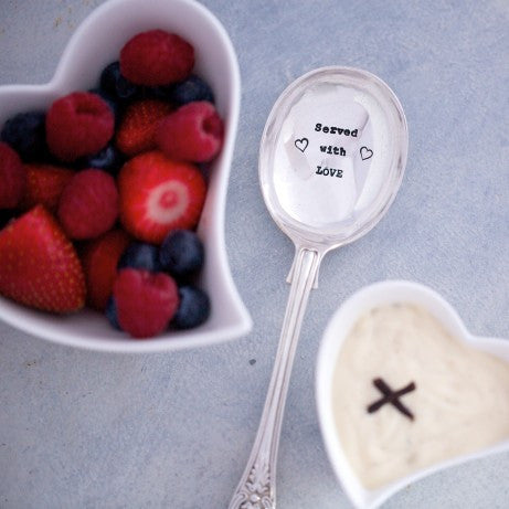 """Served with Love"" Vintage Serving Spoon"