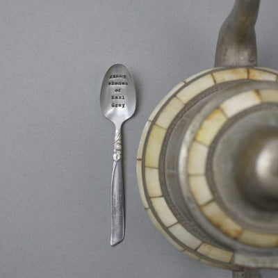 """Fifty shades of Earl Grey"" Vintage Tea Spoon, LDD-La De Da Living, Putti Fine Furnishings"